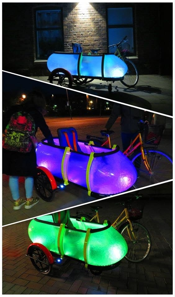 Night Buddy by SideBuddy , bicycle trailer convertible bicycle kidtrailer, Jordi Hans Design consulting Sweden Jönköping City Sweden Scandinavian made, Design consulting, Re inventing your future